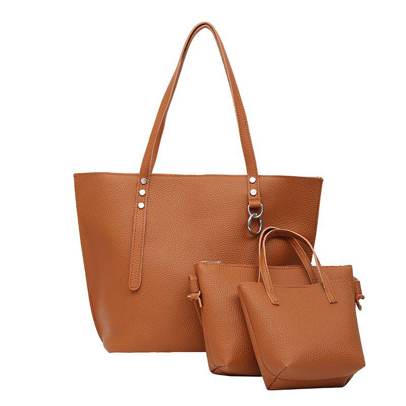 One Shoulder Slanted Spanning Lady's Backpack - BROWN