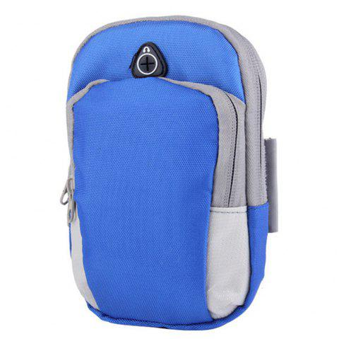 Outdoor sports men and women running mobile arm package - BLUE