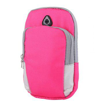 Outdoor sports men and women running mobile arm package - PINK PINK