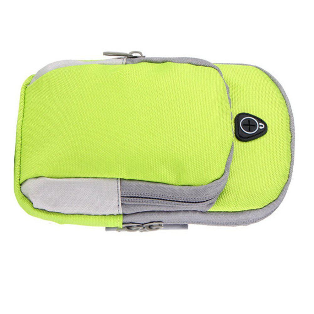 Outdoor sports men and women running mobile arm package - GREEN