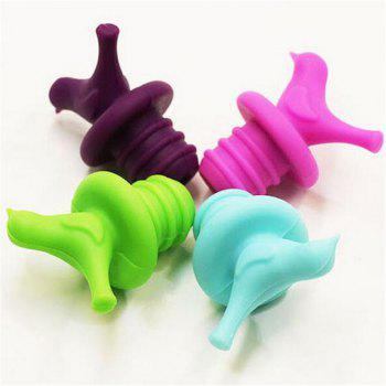 4PCS/LOT Bird Design Silicone Wine Stopper Safety Bar Accessories Sealed Wine Bottle Stopper - COLOUR