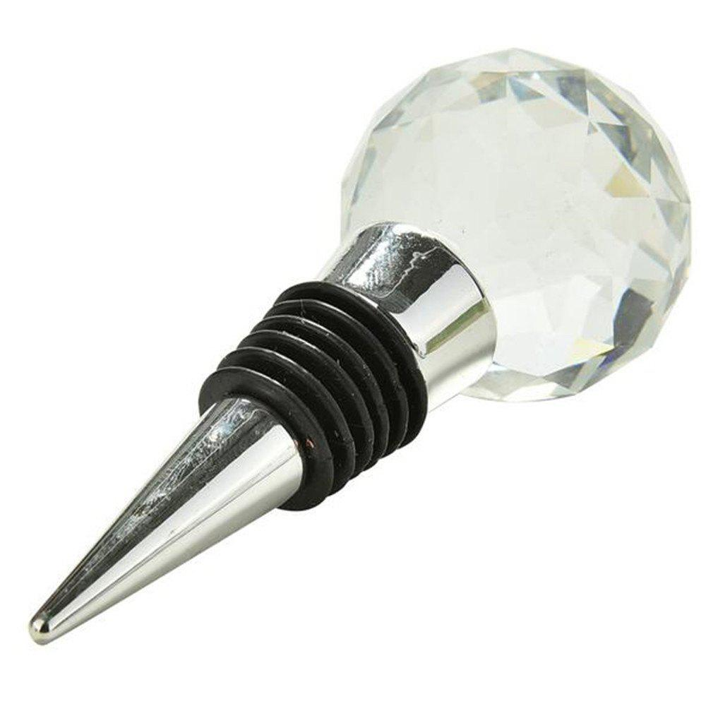 Big Diamond Crystal Wine Stopper Bottle Opener Bar Tools and Accessories Wedding Favors Party Supplies Kitchen Tools - BLACK