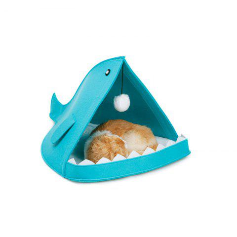 Removable and Soft Shark Shape Pet Dog and Cat Bed - BLUE 60 X 40 X 40CM