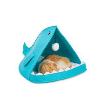 Removable and Soft Shark Shape Pet Dog and Cat Bed - BLUE BLUE