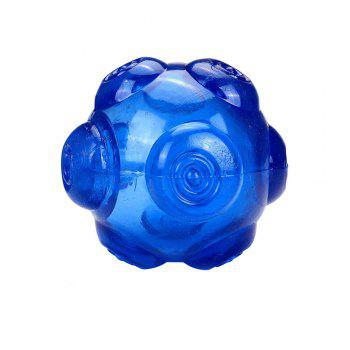 Durable TPR Non-Toxic Pet Sound Toy Ball for Dog - BLUE BLUE