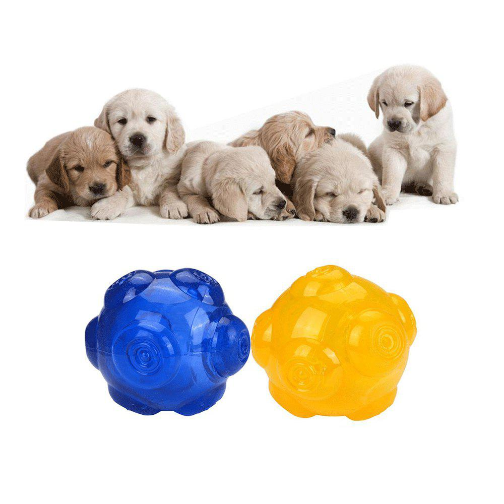 Durable TPR Non-Toxic Pet Sound Toy Ball for Dog - YELLOW