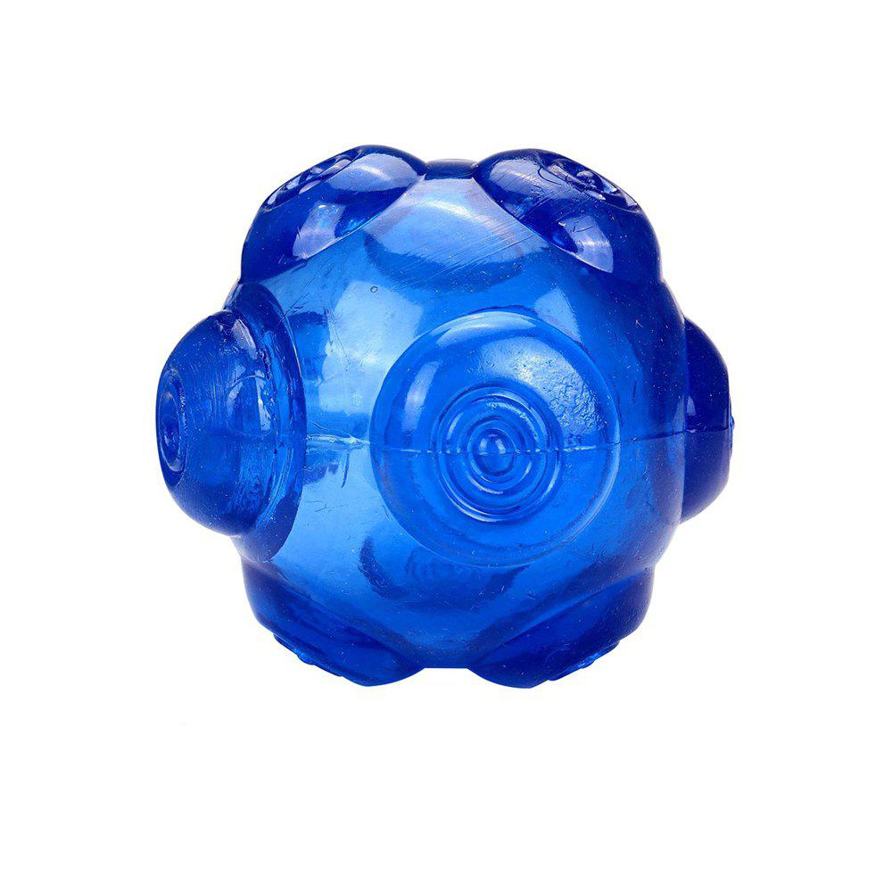 Durable TPR Non-Toxic Pet Sound Toy Ball for Dog - BLUE