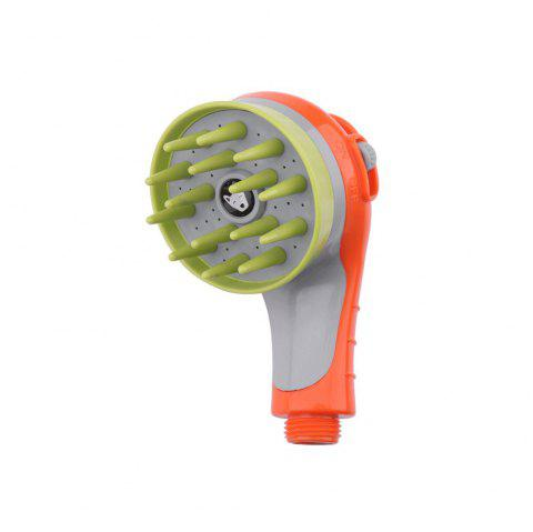 Pet Shower Sprayer Massage Shower Tool with Brush - ORANGE