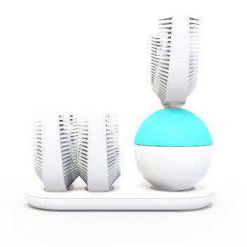 Automatic Electric Sonic Toothbrush Quickly Brush in 10S USB Wireless Charging Powered Rechargeable - WHITE