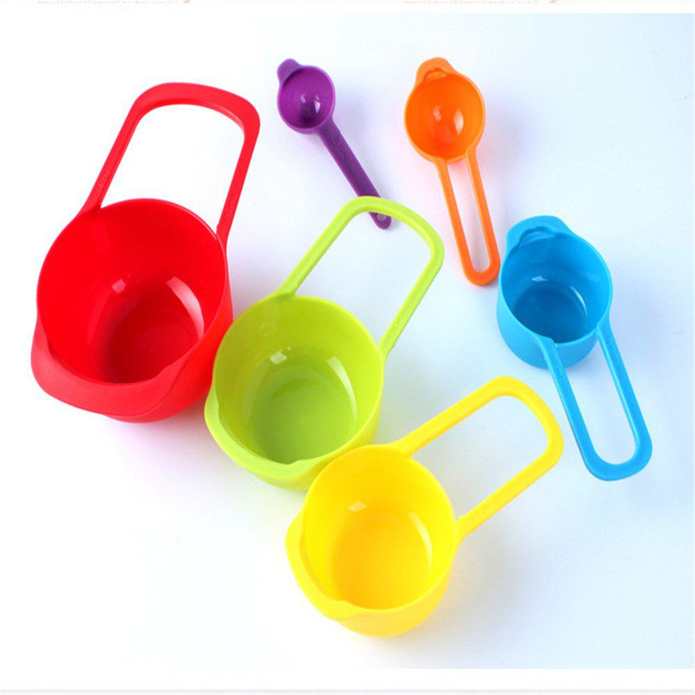 6PCS Kitchen Colourworks Measuring Spoons Cups Spoon Cup Baking Utensil Set Kit Measuring Tools - COLOR