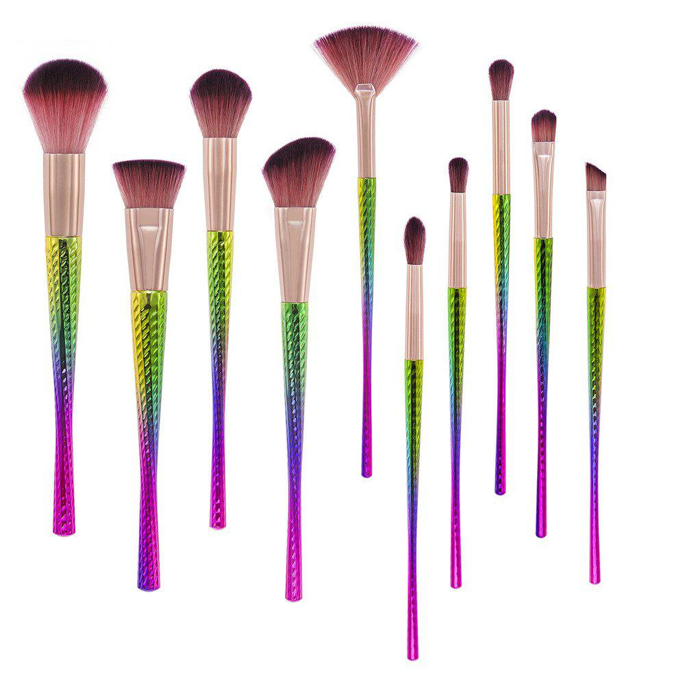 Colorful Waistline Makeup Brush 10PCS - COLOR 19CM X 3CM X 2.5CM