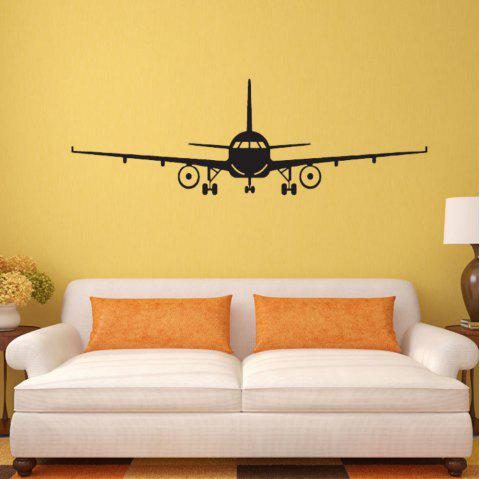 Airplane Vinyl Wall Sticker Airplane Wall Art Decal Decoration Vinyl Stickers Removable Airplane Wallpaper - BLACK 32X100 CM