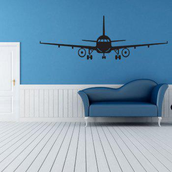 Airplane Vinyl Wall Sticker Airplane Wall Art Decal Decoration Vinyl Stickers Removable Airplane Wallpaper - BLACK 51X 16CM