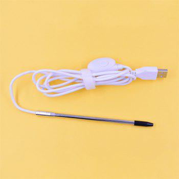 USB Endoscope 4.9MM Lens Medical for OTG Android Phone PC Borescope Inspection Otoscope Camera for Ear Nose - WHITE