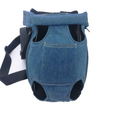 Lovoyager LVC0103 The New Style of Dog Fashion Denim Chest Knapsack - DENIM BLUE L