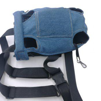 Lovoyager LVC0103 The New Style of Dog Fashion Denim Chest Knapsack - DENIM BLUE M