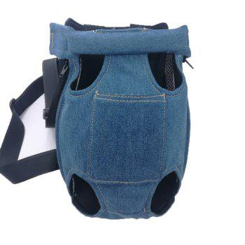 Lovoyager LVC0103 The New Style of Dog Fashion Denim Chest Knapsack - DENIM BLUE DENIM BLUE