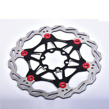 Mountain Bike 6 Nails 180mm Color Float Floating Disc Brake Rotor Cycling Bicycle Rotors - BLACK BLACK
