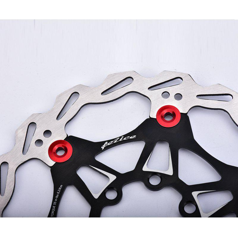 Mountain Bike 6 Nails 180mm Color Float Floating Disc Brake Rotor Cycling Bicycle Rotors - BLACK 180MM X 180MM X 3MM