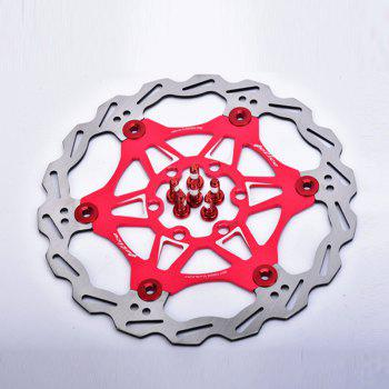 MTB  6 Nails 180mm Color Floating Disc Brake Rotor Cycling Bicycle Rotors - RED RED