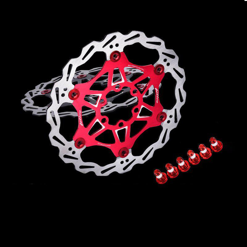MTB  6 Nails 180mm Color Floating Disc Brake Rotor Cycling Bicycle Rotors - RED 180MM X 180MM X 3MM