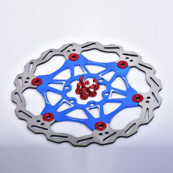 MTB DH 6 Nails 180mm Color Float Floating Disc Brake Rotor - BLUE 180MM X 180MM X 3MM