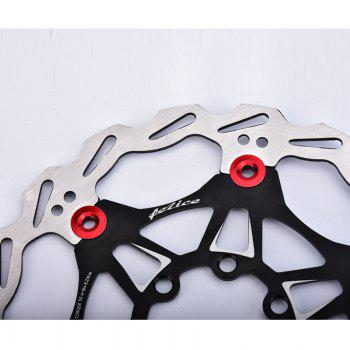 Mountain Bike Rotor 6 Nails 160mm Color Floating Disc Brake - BLACK 160MM X 160MM X 3MM