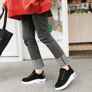2018 New Style Simple Round Toe Solid Color Cloth Cover Shoes - BLACK 36