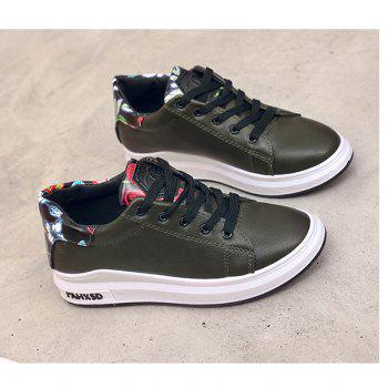 2018 New Style Fashion Solid Color Round Toe Increased Internal Non-Slip Rubber Sole Shoes - ARMYGREEN ARMYGREEN