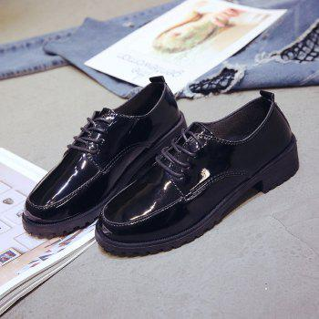 2018 New Style Fashion Comfortable Cloth Round Toe Solid Color Rubber Sole Shoes - BLACK 38