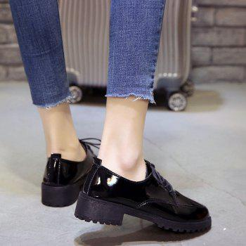 2018 New Style Fashion Comfortable Cloth Round Toe Solid Color Rubber Sole Shoes - BLACK 36