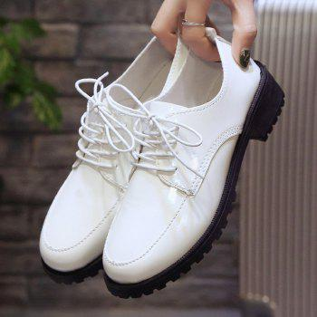 2018 New Style Fashion Comfortable Cloth Round Toe Solid Color Rubber Sole Shoes - WHITE 38