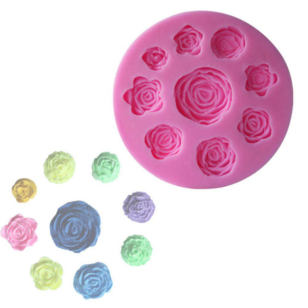 WS 0239 Rose Baking Sugar Cake Mold - PINK