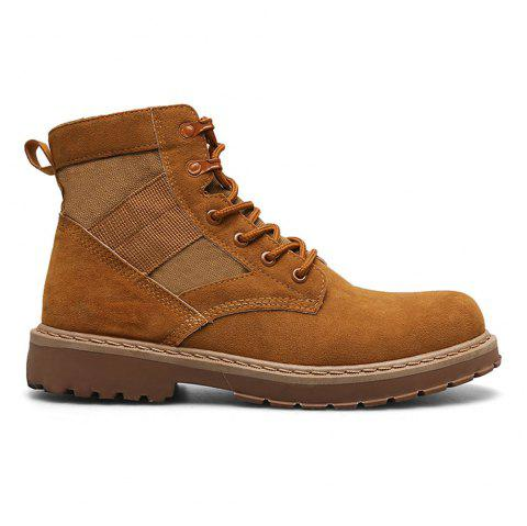 Male Martin Boots Winter Working Boots with High Upper - KAHKI 42