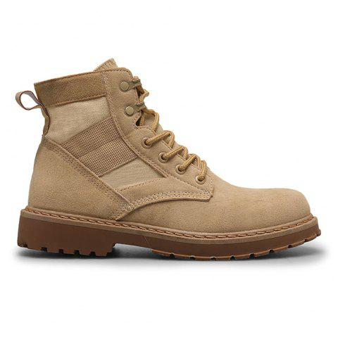 Male Martin Boots Winter Working Boots with High Upper - BEIGE 39