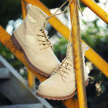 Male Martin Boots Winter Working Boots with High Upper - BEIGE 41