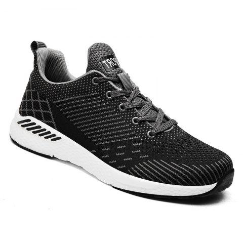 Flying Knitted Unisex Running Shoes - DARK GREY 42