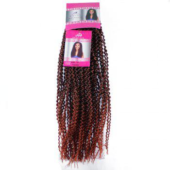 18 inch Synthetic Kinky Curly Hair Extension for Black Woman Brown Color - BROWN BROWN