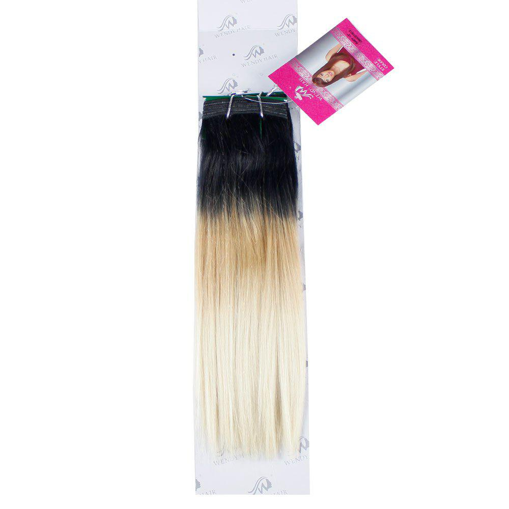 Ombre Synthetic  Straight Hair Extensions Hairpieces for Women 2PCS - GRADIENT 14INCH*14INCH