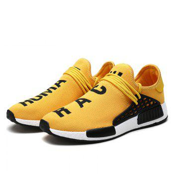 Men Casual Hiking Trend for Fashion Outdoor Sport Spring Breathable Shoes - YELLOW 44