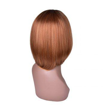 Hairyougo T4111 Medium Length BoBo Style High Temperature Fiber Wig - FLAX FLAX