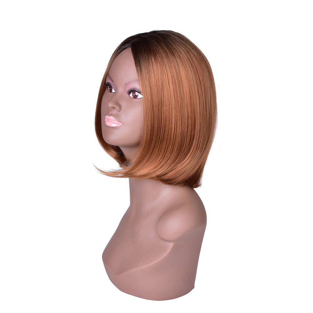 Hairyougo T4111 Medium Length BoBo Style High Temperature Fiber Wig - FLAX 13INCH