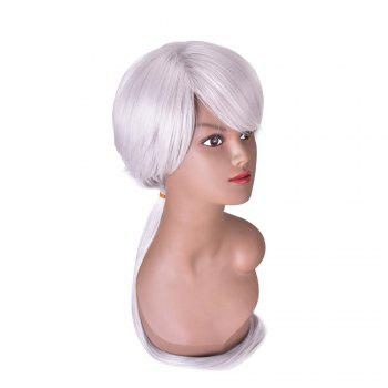 Hairyougo 4132 80cm Silver Gray Long Straight Fluffy Heat Resistance Wig -  GRAY