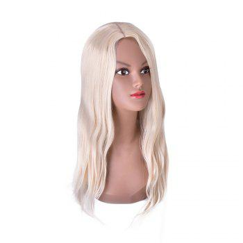 Hairyougo 4147 Heat Resistance Pure Color Long Cosplay Wig - WHITE