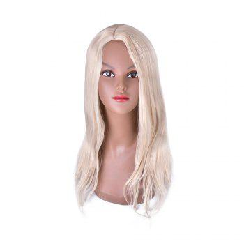 Hairyougo 4147 Heat Resistance Pure Color Long Cosplay Wig - WHITE WHITE