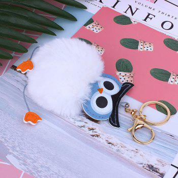 Owl Styling Fur Flocculus Keychain - WHITE