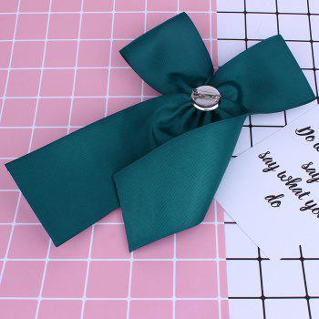Bow Shaped Rhinestone Brooch - GREEN