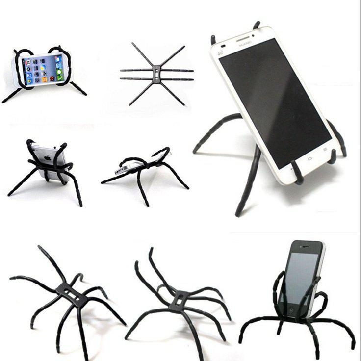 New Fashion Spider Mobile Phone Support Lazy Octopus Desktop Digital Tablet Apple Creative Support Deformation - BLACK
