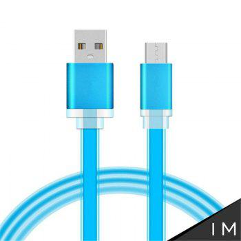 1 Meter Micro USB Data Charger Cable Cord for Android Phones Candy Colors - BLUE BLUE