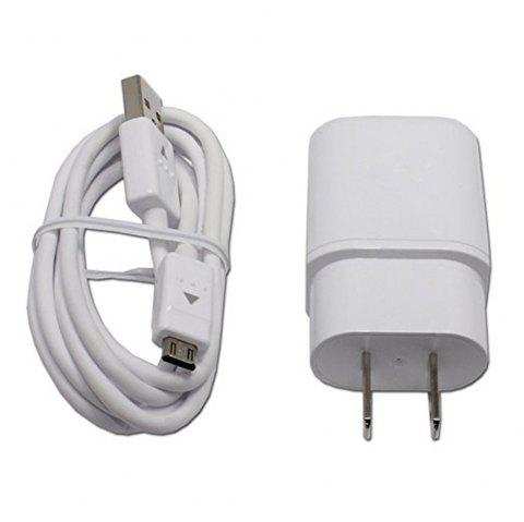 Travel Adapter Fast Charger Cable for G4 G Flex 2 V10 - WHITE